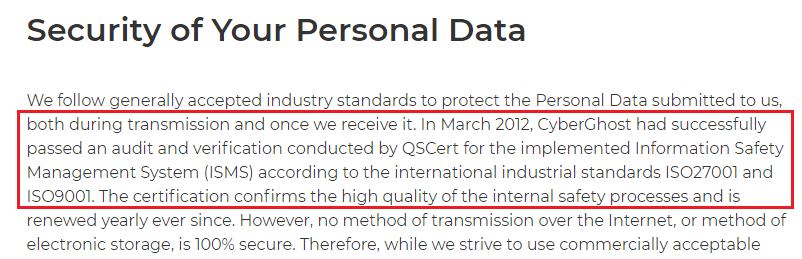 CyberGhost audit