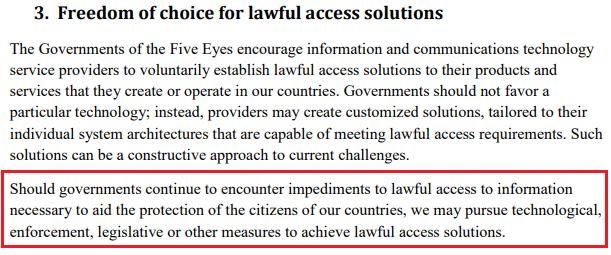 Five Eyes encryption