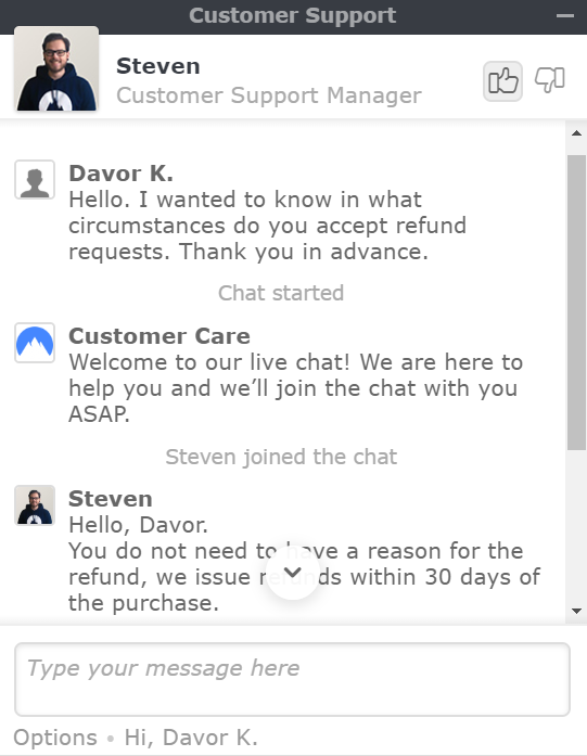 NordVPN review support